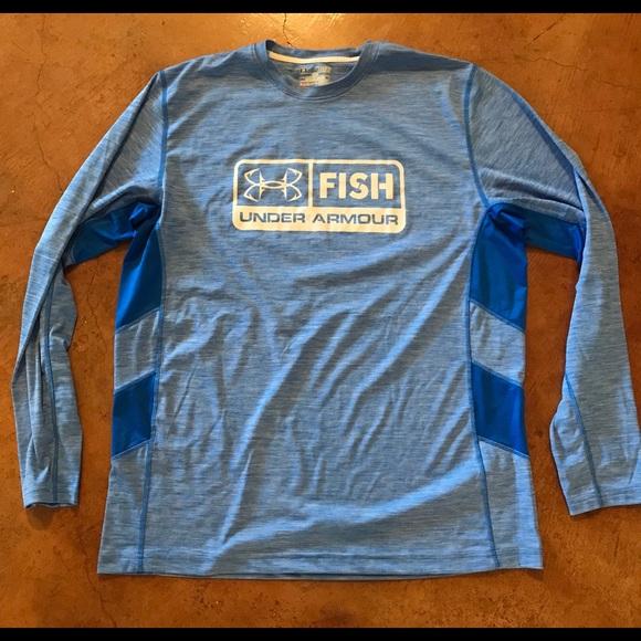 810c2debb0 2 Under Armour Fishing Heat Gear Shirts